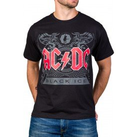 Camiseta AC/DC Black Ice 100% Algodão429.M.PR.3