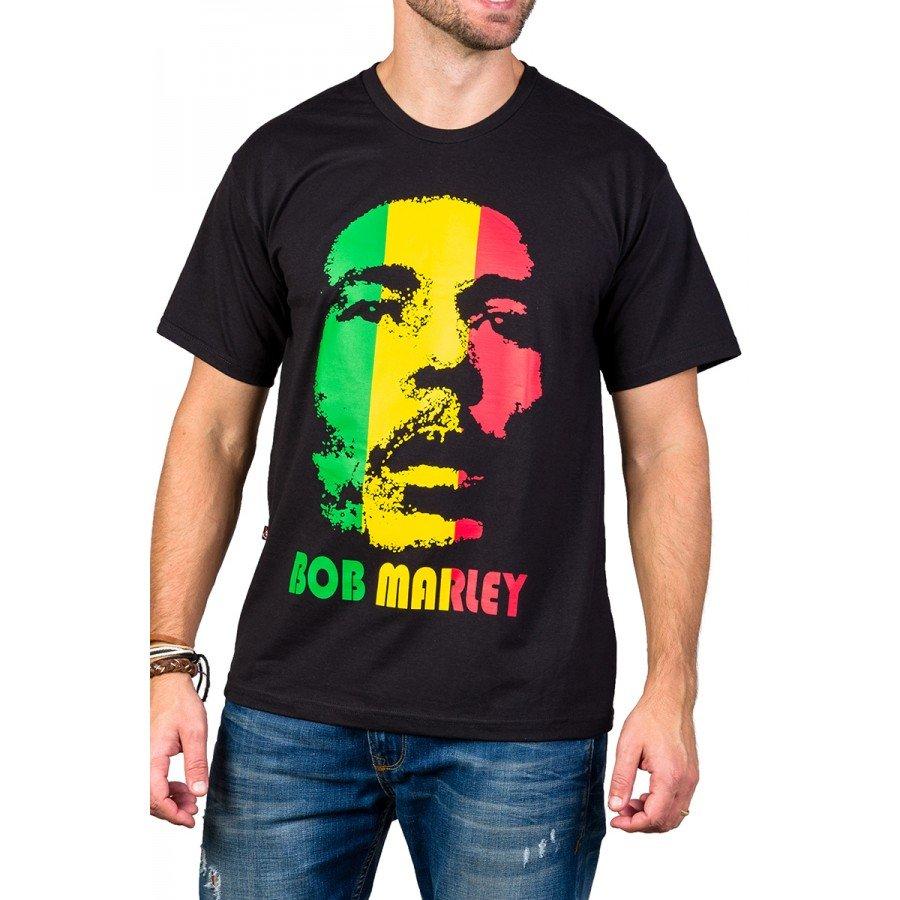 Camiseta Bob Marley Reggae Frente e Costas 110 M Preto 3