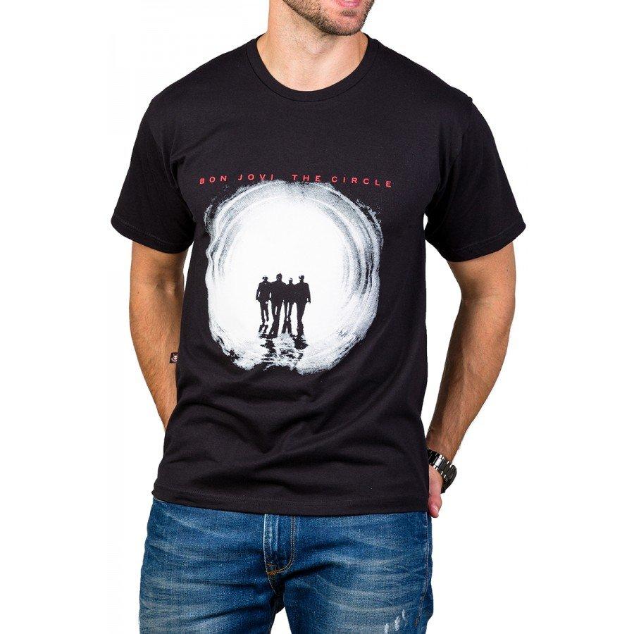 Camiseta Bon Jovi The Circle c/ Reforço 444 M Preto 3