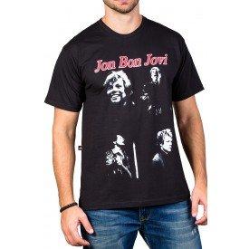 Camiseta Bon Jovi c/ Estampas 495 M Preto 3