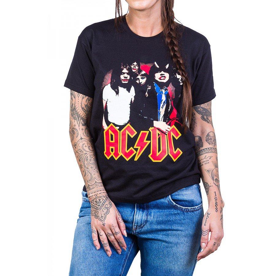 Camiseta AC/DC Highway to Hell c/ Gola Redonda 357 F Preto 3