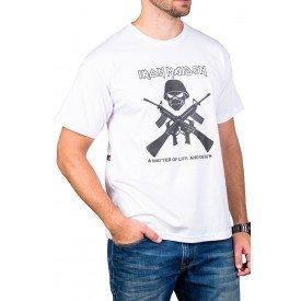 Camiseta Iron Maiden Armas Gola Redonda
