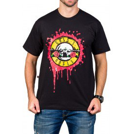 Camiseta Guns n' Roses Logo Bandalheira