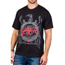 Camiseta Slayer Logo Àguia 100%algodão