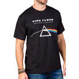 Camisetas Pink Floyd Prisma The Dark Side of the Moon Preta