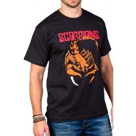 Camiseta Scorpions Logo 100% Algodão 1