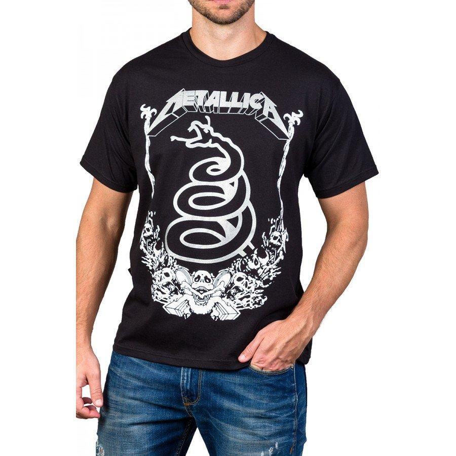 Camiseta Metallica Cobra Serpente Gola Redonda