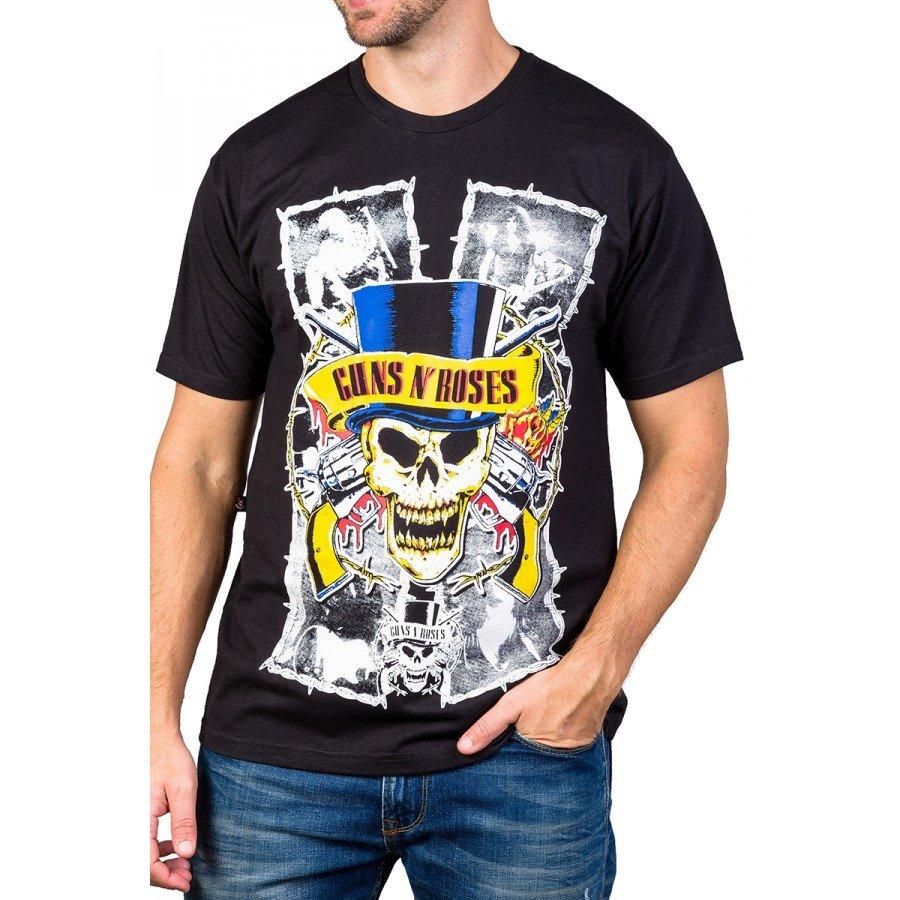 Camiseta Guns n' Roses Cartola Gola Redonda 1