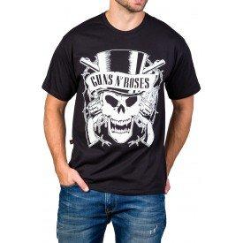 Camiseta Guns n' Roses Logo Caveira 100% algodão 0
