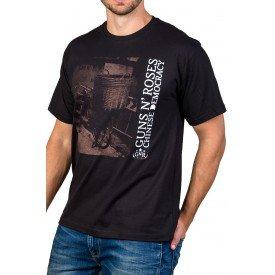 Camiseta Guns n' Roses Chinese Democracy Preta