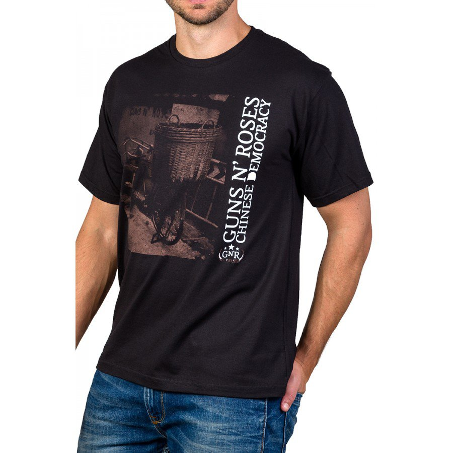 Camiseta Guns n' Roses Chinese Democracy Preta