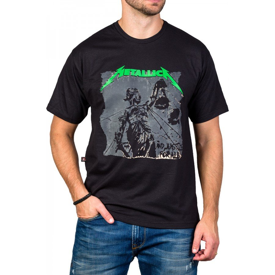 Camiseta Metallica And Justice for All 100% Algodão