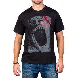 Camisetas Pink Floyd The Wall Boca Aberta Preto