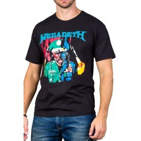 Camisetas Megadeth Soldado Gola Redonda