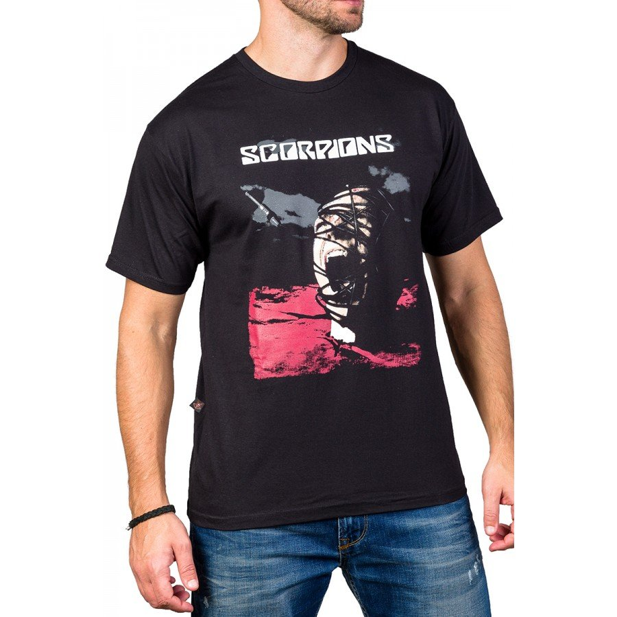 Camiseta Scorpions Acoustica Cabeça Enrolada