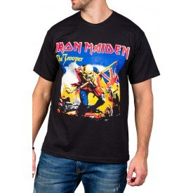 Camiseta Iron Maiden The Trooper Preta