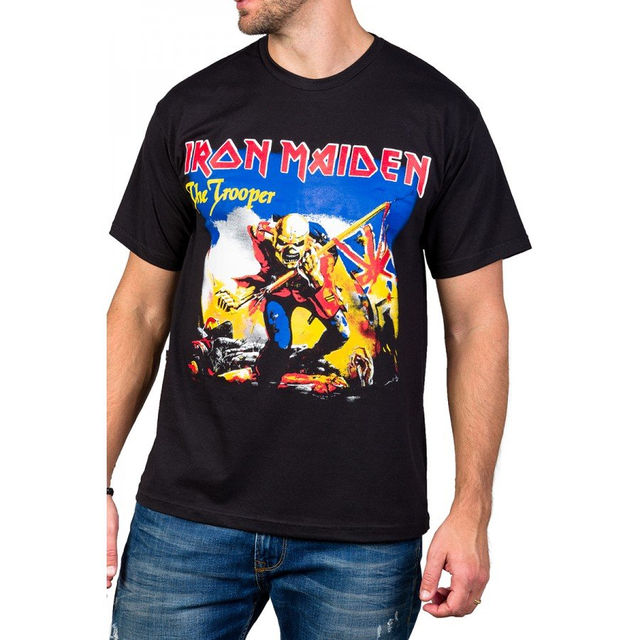 Camiseta Iron Maiden The Trooper Preta