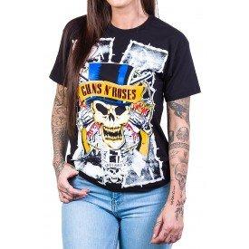 Camiseta Guns n' Roses Cartola Feminina 1