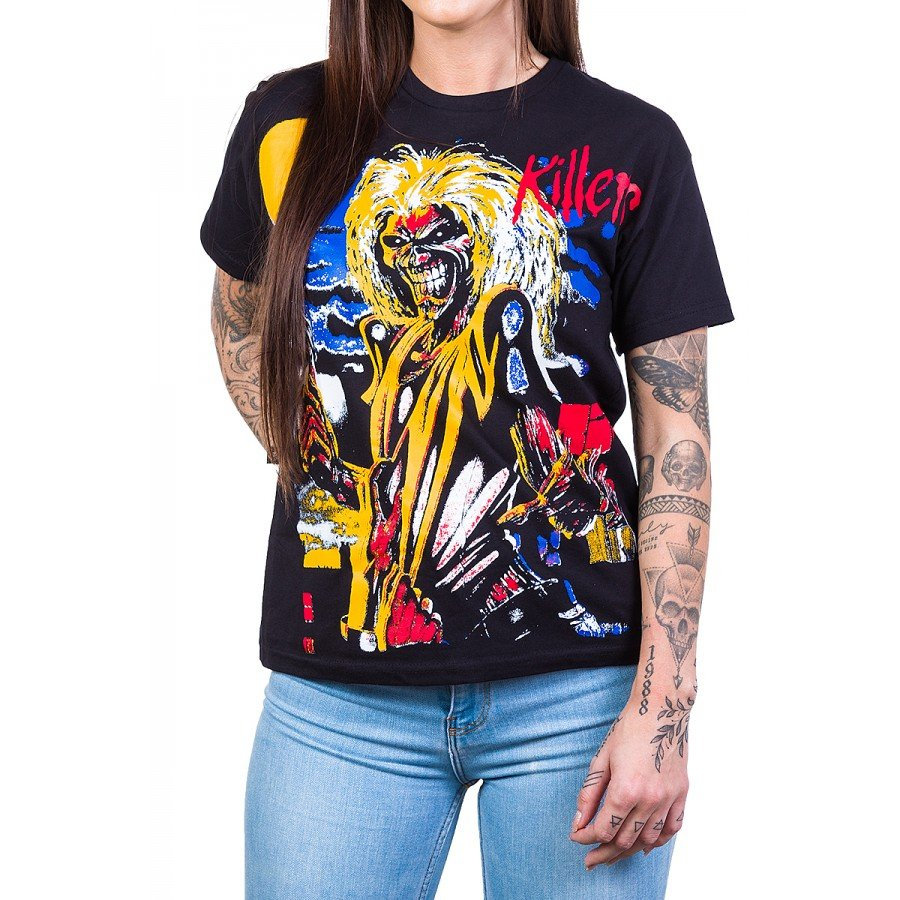 Camiseta Iron Maiden Killers Colorida 1