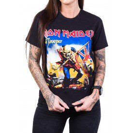 Camiseta Iron Maiden The Trooper Colorida