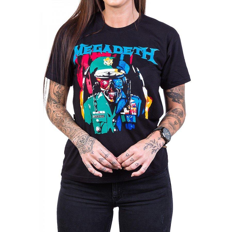 Camiseta Megadeth Soldado Feminina 100% Algodão