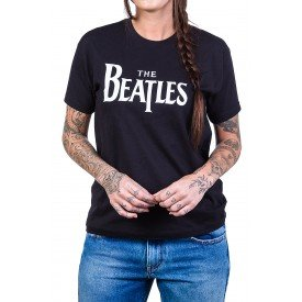 Camiseta The Beatles Escrita 100% Algodão338 the beatles p 1