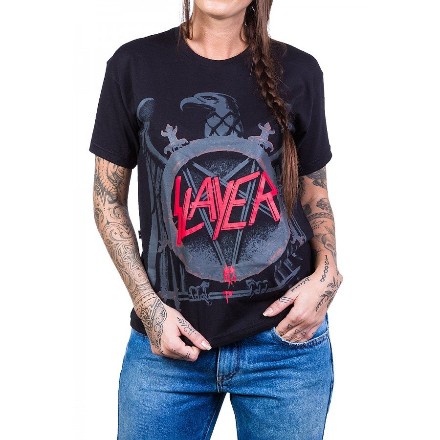 Camiseta Slayer Logo Àguia 100%algodão2576 slayer p 1