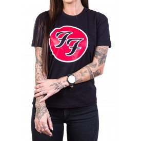 Camiseta Foo Fighters Logo FF 100% Algodão 1