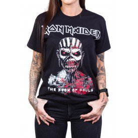 Camiseta Iron Maiden The Book of Souls Preta