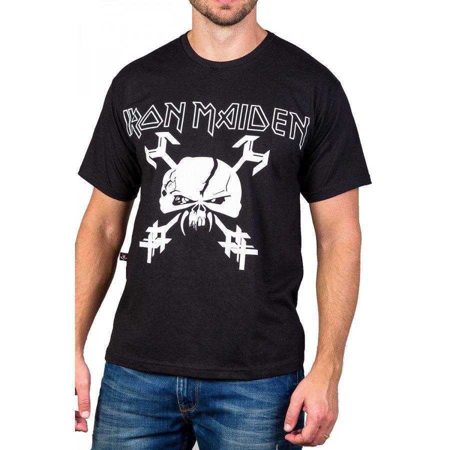 Camiseta Iron Maiden Caveira Bandalhera