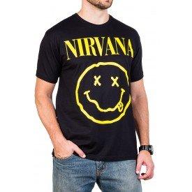 Camiseta Nirvana Smiley Masculina Gola c/ Elastano162 1