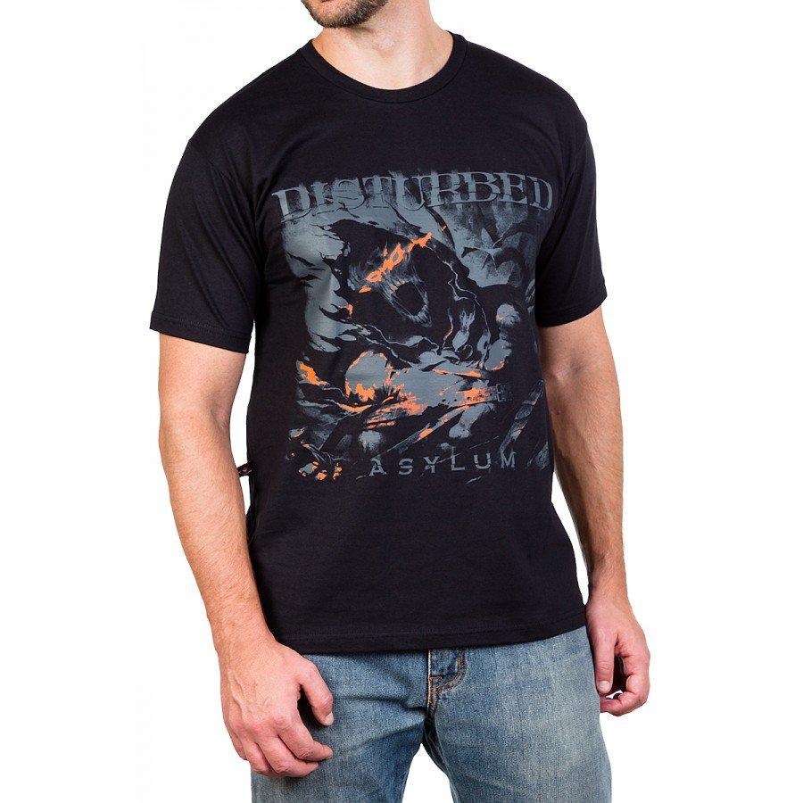 camiseta disturbed asylum preta 2612 3