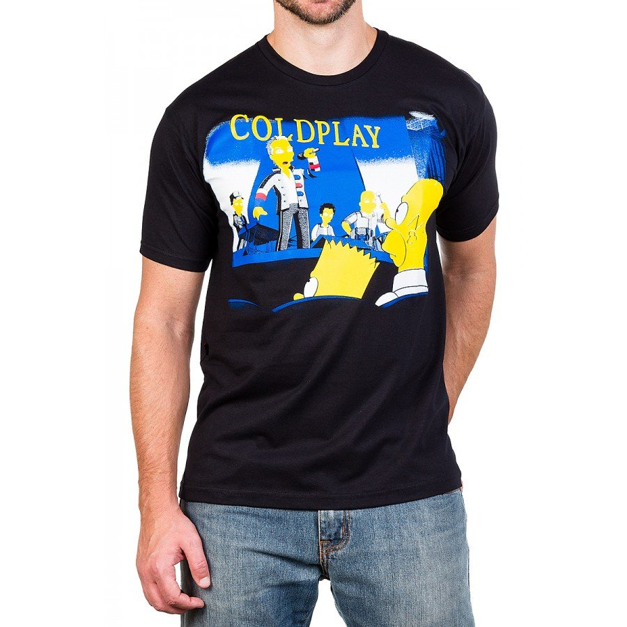 camiseta coldplay simpsons 100 algodao 2587 2