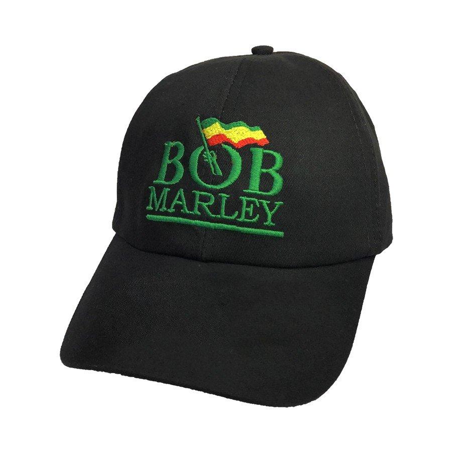 bone bob marley escrita bandeira preto bn07