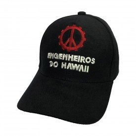 bone engenheiros do hawaii logo escrito aba curva bn75