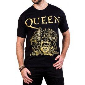 camiseta queen logo gola c elastano 174 4