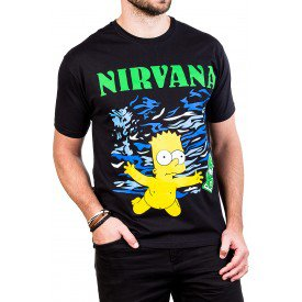 camiseta nirvana simpsons bart manga curta 250 2