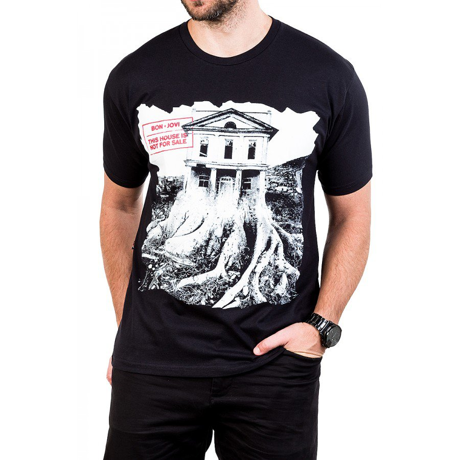 camiseta bon jovi this house is not for sale manga curta 2843 1