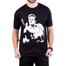 camiseta johnny cash foto do dedo do meio preta 2515