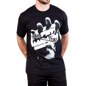 camiseta judas priest british steel reforco de ombro a ombro 2851 3