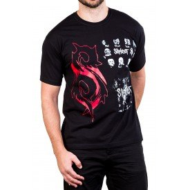 camiseta slipknot s logo com estampa 2530 4