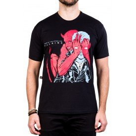 camiseta queens of the stone age villains estampa frente e costas 2846 2
