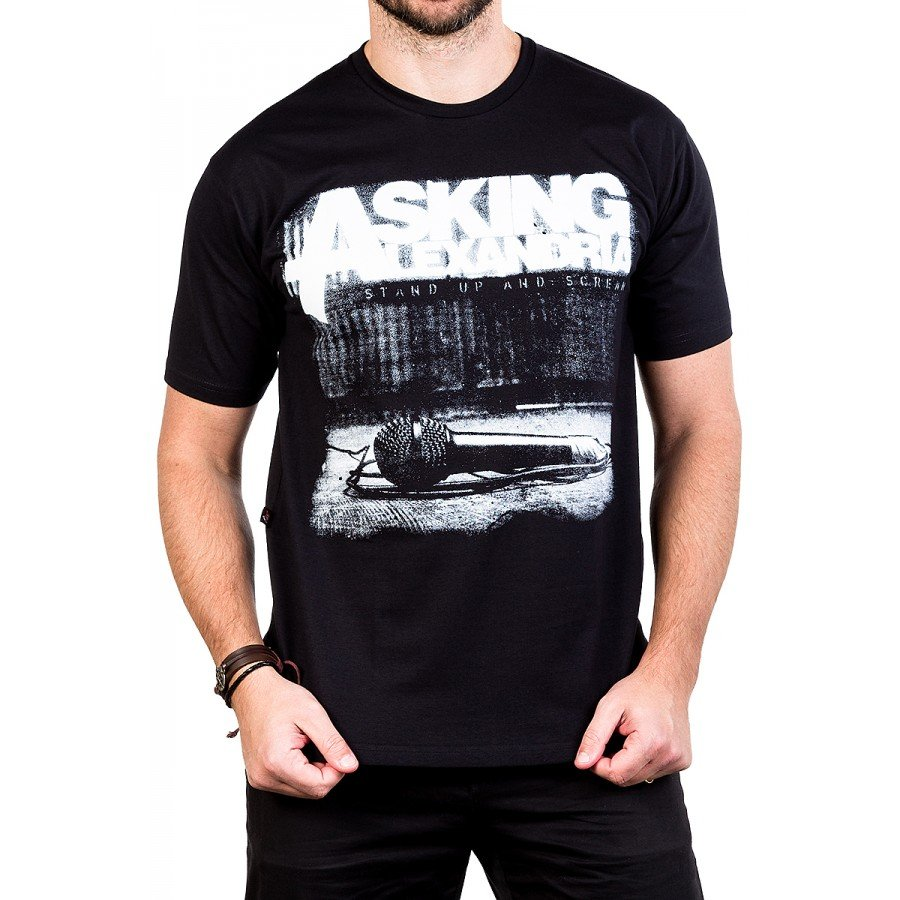 camiseta asking alexandria stand up and scream com estampa 2617 4