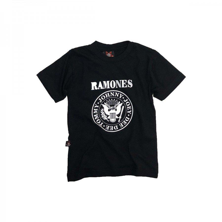 Camiseta Bebê Ramones Logo 100% algodão -