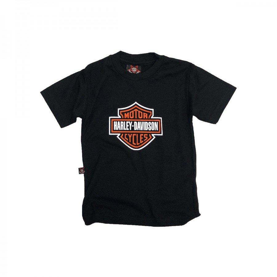 camiseta bebe harley davidson logo com estampa bb008