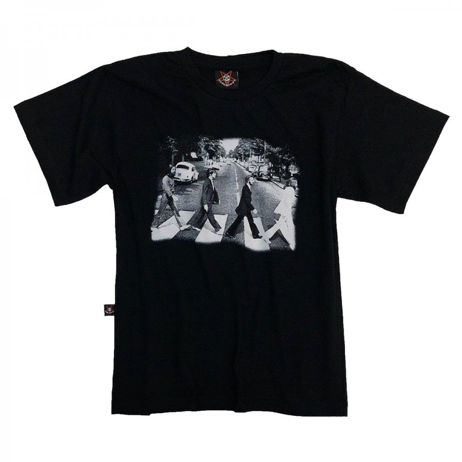 camiseta infantil the beatles abbey road faixa gola c elastano in818