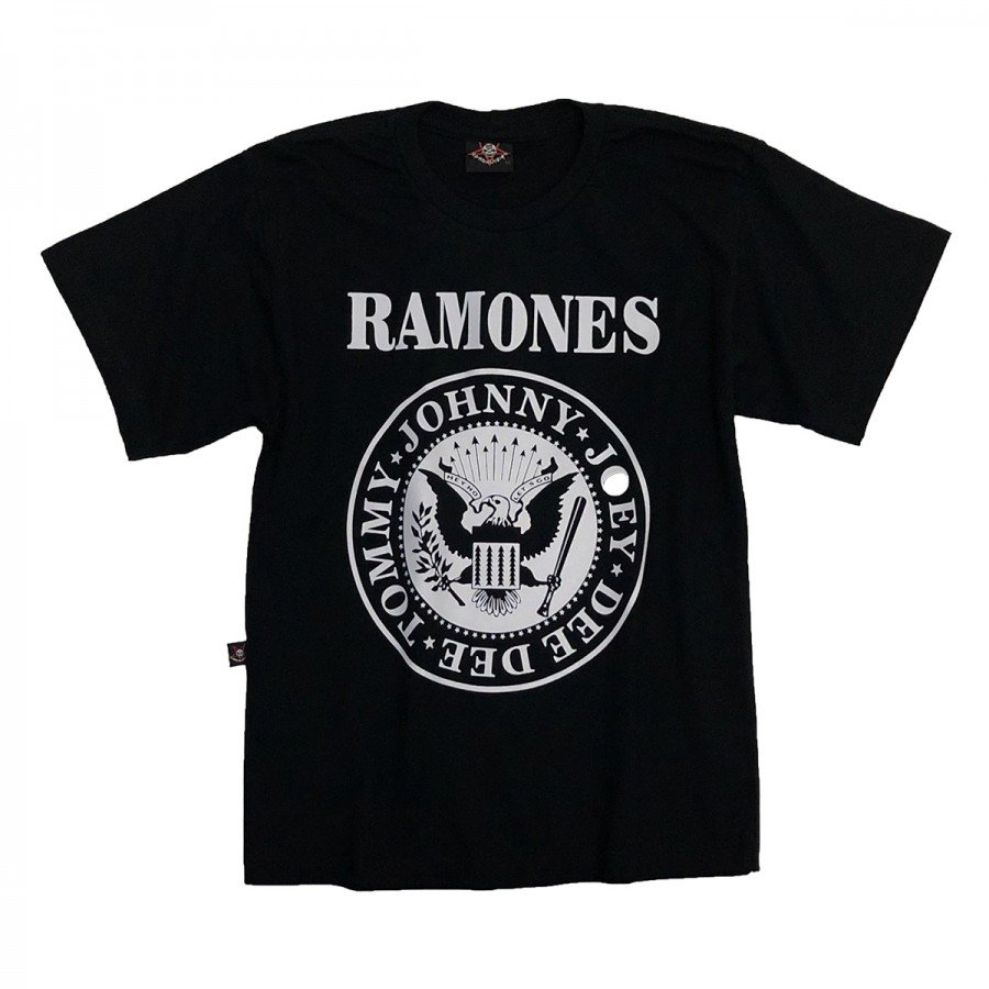 camiseta infantil ramones logo 100 algodao in852