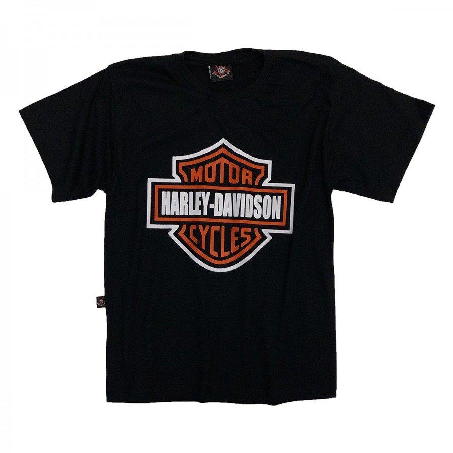 camiseta infantil harley davidson logo gola c elastano in594