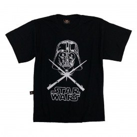 camiseta infantil star wars darth vader preta in891