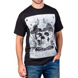 Camiseta Guns n' Roses Sex & Drugs & Guns n' Roses Preta
